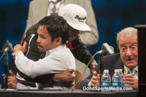 Pacquiao hugs Pacquiao